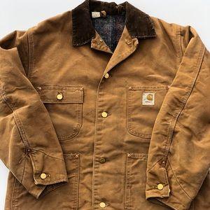 70s Vintage Carhartt Wool Lined Duck Jacket Sz M-L